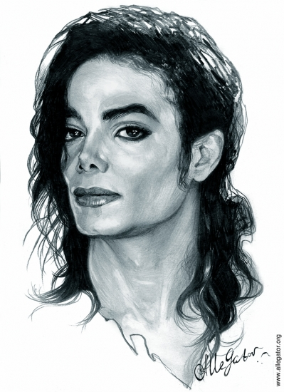 Portrait of Michael Jackson by